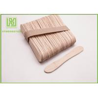 Buy cheap Disposable Lolly Pop Ice Cream Wooden Sticks , 114mm Natural Wooden Sticks product