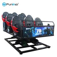 China Multiplayer CS Fights Shooting Games 7D Cinema Simulator Rider Metal Screen 6 / 9 Seats on sale