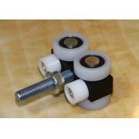 Buy cheap Steel Rim Movable Wall Hardware Black Color Track Wheel Panel Joint product