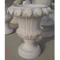 Buy cheap Garden decoration stone flowerpot, Light Grey Granite Sculpture product