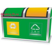 Buy cheap Large Outdoor Recycle Plastic Large Outside Trash Cans With Hinged Lid 76*44*93cm product