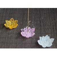 Buy cheap Lotus Flower Design Colored Glaze Crafts / Incense Burner Three Colors Optional product