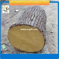 China UVG unique decoration ideas artificial tree stump with fiberglass material for garden landscaping on sale