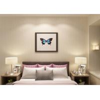 Buy cheap Non - woven Modern Removable Wallpaper for Bedroom With Grey Stripes Pattern product
