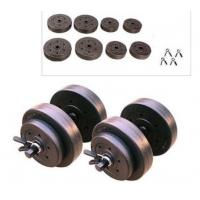 30KG Olympic Weight Set Adjustable Vinyl Cement Dumbbell Set With Spring Clips
