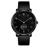 Buy cheap PVD Plated Alloy Mens Quartz Watch Black Italian Leather Band Classic Style product