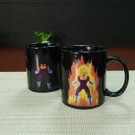 Buy cheap Unique Dragon Ball Color Changing Mug Vegeta Black Ceramic Magic Mug Eco Friendly Ceramic Mugs Heat Sensitive product