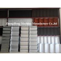 Buy cheap 0.4mm Al - Zinc Stone Coated Roof Tile Machine With Auto Face Glue Spraying System product