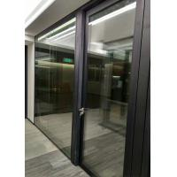 Buy cheap Frameless Demountable Glass Partitions Sliding With Timber Veneered Doors product