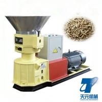 Buy cheap High quality  sawdust rice husk straw  flat die pellet machine for chicken cattle feed pellet making product