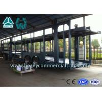 Quality Double Layer Car Transport Trailers Carbon Steel 2 Axles Car Carrying Trailers for sale