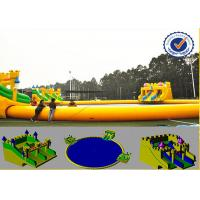 Water Proof 30m Water Park Equipment With Fabric Reinforced 0.9mm PVC Tarpaulin