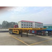 China 3 Axle Container Trailer Truck Triangle Tire Loading 40FT / 20FT Container Truck on sale