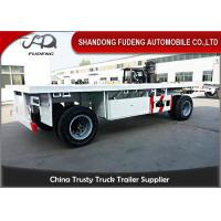 Buy cheap 2 Axles Drawbar Trailer Custom Side Wall With Turntable Mechanical / Air Suspension product