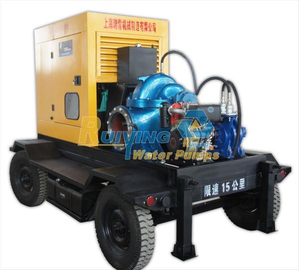 Cummins engine portable diesel water pump 100m3 h flow for Diesel irrigation motors for sale