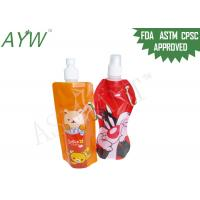 Buy cheap Portable Carabiner Liquid Spout Bags Customized Size For Kids Baverage Jelly product