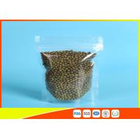 Buy cheap Clear Stand Up Pouches With Zipper For Household Use , Zip Lock Pouch Bags from wholesalers