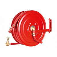 China Swivelling Fire Extinguisher Hose Reels , Fire Fighting Equipment For Garden on sale