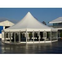 Buy cheap 2019 hot sale 6m White Reinforced pvc fabric Maggiolina hexagon roof top polygonal tent for sale product
