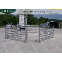 Buy cheap Galvanized Portable Horse Fencing Panels , Free Standing Livestock Panels product