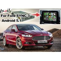 Buy cheap Ford Mondeo Fusion SYNC 3 Auto Navigation System Android 5.1 WIFI BT Map Google Service product