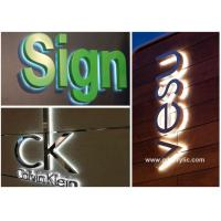China Professional Design Solution for Metal / Acrylic Illumination led Stainless Steel Signs on sale