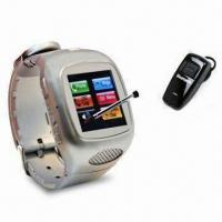 Buy cheap MP3 Touchscreen Watch Phone with Built-in Bluetooth, Supports T-Flash Card of Up to 32GB Memory product