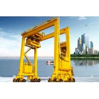Buy cheap Rubber Tired Container Gantry Crane Double Girder Rail Mounted For Outdoor product