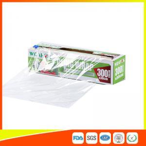 Buy cheap La hoja segura del abastecimiento del envasado de alimentos de la microonda y se aferra película con el cortador los 300m * los 30cm from wholesalers