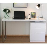 White Corner Computer Desk With Drawers Contemporary Home Office Furniture