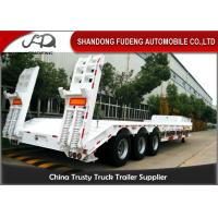 Buy cheap 3 Axle 60 Ton Low Bed Semi Trailer Truck , Low Loader Trailers  Dimension Customized product