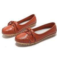 Buy cheap Vintage casual flats genuine leather shoes lady dress shoes Loafers Hollow Summer women shoes from wholesalers