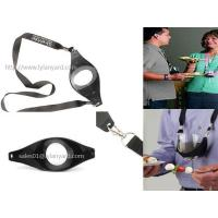 China Custom Drink Sling Wine Glass Holder Lanyard with Double Metal Clips on sale