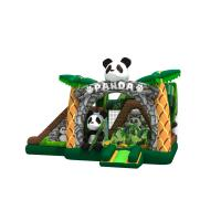 Buy cheap Lovely inflatable panda themed combo with double slide beside the bouncer inflatable pande cartoon in combo from wholesalers