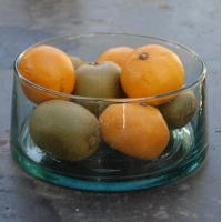 Buy cheap promotional glass salad bowl and plate,colorful glass salad bowl product