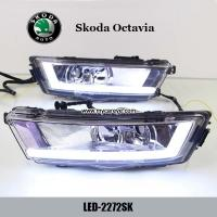 China Skoda Octavia DRL LED Daytime Running Light turn light steering for car on sale