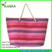 Buy cheap white cotton rope handles paper straw ladies handbags product