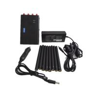 China Handheld Cell Phone Jammer / Portable GPS Jammer With Eight Antennas , 125*75*35mm wholesale