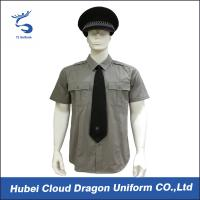 Buy cheap Men / Women Long Sleeve Security Guard Shirts With 100% Cotton Materials , Dark Grey Color product