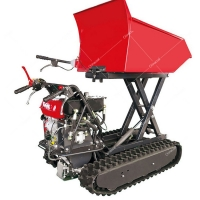 Buy cheap Crawler rubber mini transporter vehicle rack dumper with crawler dumper with 500 kg load capacity product