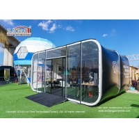 Buy cheap High Quality Luxury Event Tent 10x6m Modular Tent With Glass Wall Black Cover product