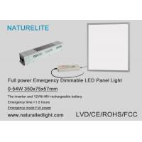 China Full Power Emergency Dimmable LED Panel Lights 0 - 54 W DC 20~60V wholesale