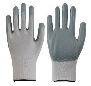 Buy cheap белый серый нитрил нейлона цвета 13г покрыл перчатки работы безопасности нитрила перчаток product