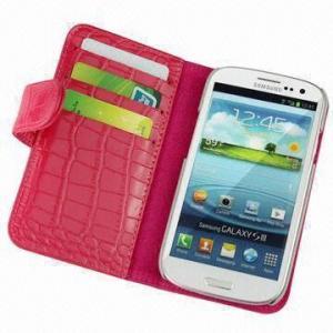 Buy cheap O plutônio cobre o caso do telefone celular para o Samsung Galaxy S3, textura da pele do crocodilo, com ranhura para cartão product
