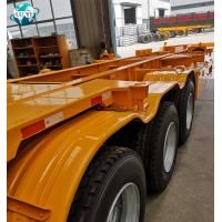 Buy cheap High quality 3 axle skeleton chassis semitrailer for container transport product
