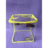 Sewing Clear Printing PVC Packing Bag / Big Yellow Promo PVC Zipper Bag