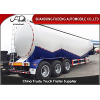 Buy cheap 80 tons Cement Tanker Trailer , 3 axles Mobile Horizontal Cement Fly Ash Silo Semi Trailer for Sale product