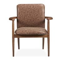 Buy cheap Elegant North EU Style PU Upholstery Metal Restaurant Dining Arm Chair,Modern Wood Arm Dining Chair. product