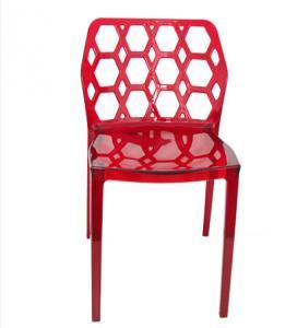 Chaises de jardin en plastique rouges pour l'usage extérieur, Scratchproof sans bras