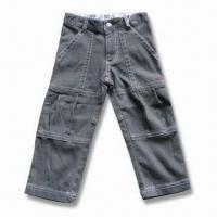 China Children's Pant with YKK Zipper, Made of 100% Cotton on sale